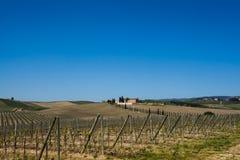 Toskana-Chianti-Landschaft Stockbild