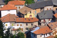 Toskana-Dorf Stockfoto