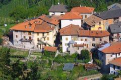 Toskana-Dorf Stockbild