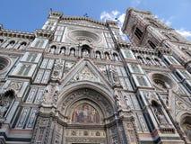 Toskana, Florenz, Dekoration der Kathedrale von Santa Maria stockfotografie