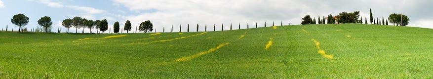 Toskana-Hügel Lizenzfreie Stockfotografie