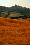 Toskana-Hügel Lizenzfreies Stockfoto