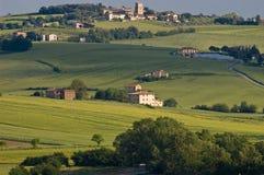 Toskana-Hügel Stockfoto