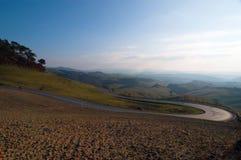 Toskana-Hügel stockbilder