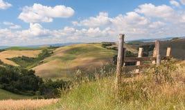 Toskana-Hügellandschaft Stockfotografie