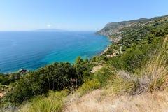 Toskana-Küstenlinie Stockbild