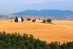 Toskana-Kirche Stockbild