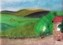 Toskana-Landschaft. Stockbild