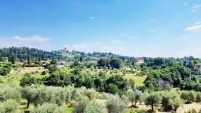 Toskana-Landschaft in Florenz, Italien stockfotos