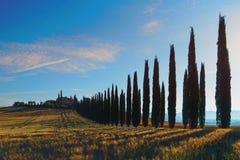 Toskana, Landschaft in Mittel-Italien Lizenzfreie Stockfotos