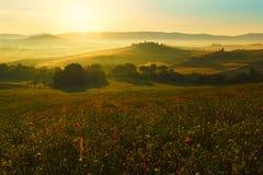 Toskana, Landschaft in Mittel-Italien Lizenzfreies Stockfoto