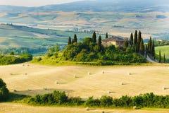 Toskana, Landschaft in Mittel-Italien Lizenzfreie Stockfotografie