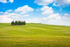 Toskana-Landschaft in Val-d'Orcia, Italien Lizenzfreies Stockbild