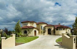Toskana oder Floridahaus Stockfotografie
