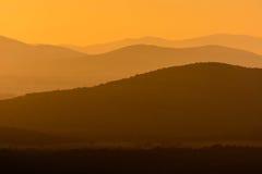 Toskana-Sonnenuntergang Stockfotos