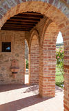 Toskana-Wand Stockbild
