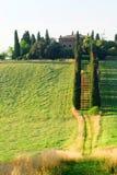 Toskania kraju willa Zdjęcia Royalty Free