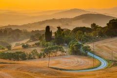 Toskanische Dorf-Ansicht von Guardistallo Lizenzfreie Stockbilder
