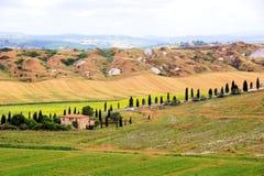 Toskanische Landschaft Stockfotos
