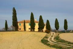 Toskanische Landschaft Stockbild