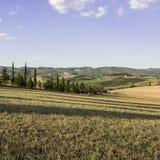 Toskanische Landschaft im Herbst Stockfoto