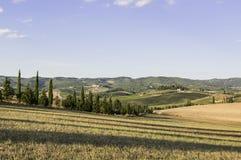 Toskanische Landschaft im Herbst Lizenzfreies Stockfoto