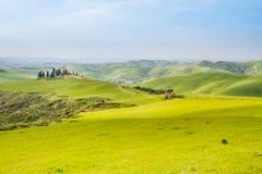 Toskanische Landschaft nahe Volterra (Pisa, Italien) Stockfotos