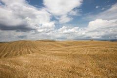 Toskanische Landschaft in Val-d'Orcia (Siena, Italien) Lizenzfreies Stockfoto