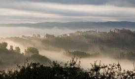 Toskanischer Sonnenaufgang 2 Stockfotos