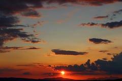 Toskanischer Sonnenuntergang Lizenzfreie Stockfotos