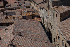 Toskanisches Dörfchen Stockbilder