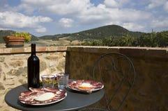 Toskanisches Mittagessen Lizenzfreies Stockfoto
