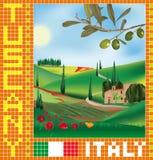 Toskanisches Mosaik 1 lizenzfreie abbildung
