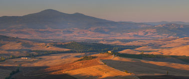 Toskanisches Panorama Stockfoto