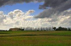 Toskanka krajobraz Zdjęcia Stock