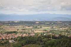 Toskanka krajobraz w San Miniato, Włochy Fotografia Royalty Free