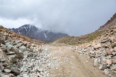 Tosor pass road. Tien Shan mountains Stock Photo