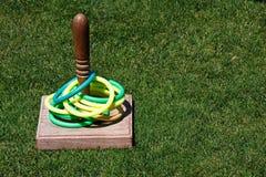 toss кольца лужайки травы игры Стоковое Изображение
