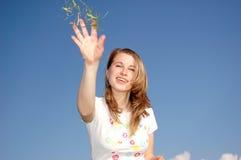 женщина toss Стоковая Фотография RF
