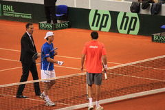 Toss between Marin Cilic and Andreas Seppi Stock Images