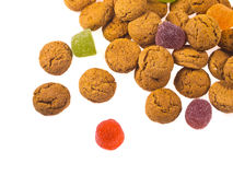 Toss of Pepernoten cookies seen from above Stock Photo