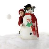 Toss Snowball рождества Стоковое Фото