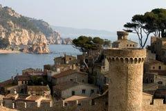 tossa Каталонии de mar Испании стоковые изображения rf