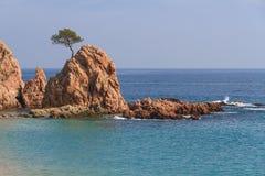Tossa de Fördärva, Spanien Arkivfoton