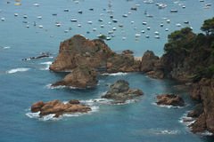 Tossa De Mącący, Costa Brava, Hiszpania Fotografia Royalty Free