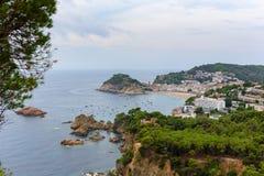 Tossa de mar, Коста Brava, Catalunya, Испания стоковое фото rf