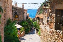 Tossa de mar, старые улицы Стоковое Изображение