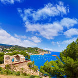 Tossa de Mar Aerial view in Costa Brava of Girona Stock Photo