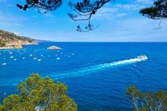 Tossa de Mar Aerial view in Costa Brava of Girona Stock Photography