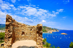 Tossa de Mar Aerial view in Costa Brava of Girona Royalty Free Stock Photo